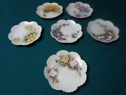 Antique Rosenthal China 6 Reticulated Floral Plates Artist Signed [89c]