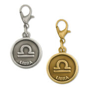 Pinmartand039s Antique Gold And Silver Libra Zodiac Scales Symbol Charm