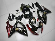 Black Red Bacardi Abs Injection Fairing Kit Fit For 2006 2007 Gsxr600 Gsxr750