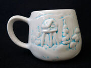Studio Signed Art Pottery Mug Far North Originals Signed Snow Cabin Winter Cup