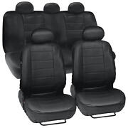 Prosyn Black Leather Auto Seat Covers For Nissan Versa Full Set Car Cover