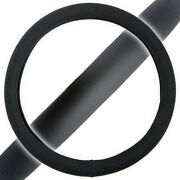 Punch Grip Syn Leather Car Steering Wheel Cover Black Snug Fit Breathable