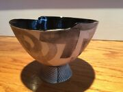 Modern  Studio Hand Crafted Pottery Bowl Signed ASH