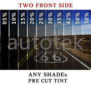 Precut Film Front Two Door Windows Computer Cut Any Tint Shade For All Cars Suv