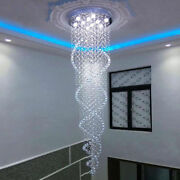 Led Dimming Double Spiral K9 Crystal Ceiling Lights Pendant Lamps Chandeliers
