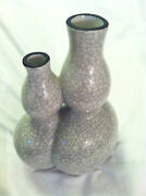 """OMMA WAG MODERN ART POTTERY DUAL LOVER'S VASE 1994 8"""" T x 5"""" W"""