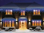 960 Christmas Led Snowing Icicle Lights Bright White Blue Xmas Indoor Outdoor