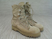 Wellco Wheat Brown Desert Boots Men's Size 5.5 Wide Hiking Trail Military Vibram