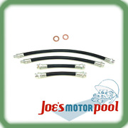 Ford Gpw Or Willys Mb Brake Line Set Including Copper Washers