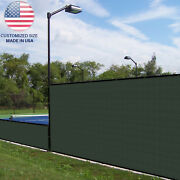 Customize 5ft Green Vinyl Coated Fence 100 Privacy Commercial Garden Screen