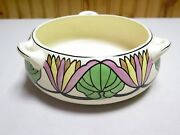 Early Vintage Roseville Persian 3-handled Bowl Unmarked Excellent Condition