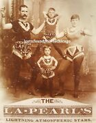 Antique Jh Lapearl Circus Il In Harry The Pearl Hollywood Ca Cabinet Card Photo
