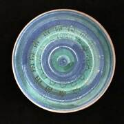 James Crumrine ceramic plate, Studio Art Pottery, signed (mid century modern)