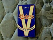 1942 Brooklyn Dodgers Media Guide Roster Yearbook Press Book Program Baseball Ad