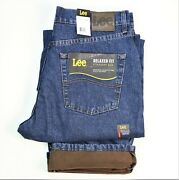 New Lee Fleece Lined Winter Jeans Relaxed Fit Men's Sizes 30 32 34 36 38 40 42