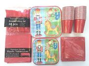Christmas Party Set Toy Soldiers Square Plates Napkins Cutlery Paper Serves 12