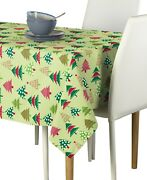 Decorated Christmas Trees Signature Tablecloth Assorted Sizes