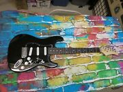 Wentz, Stump, Hurley Fall Out Boy Signed Electric Guitar Lom Coa G337