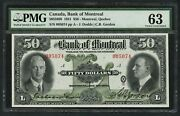 Canada Bank Of Montreal 50 1931 505-58-08 Pmg Choice Unc Tiny Mgn Tear Wlm4869