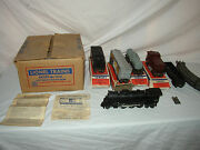 Lionel 1511s 027 Gauge 2037 Engine And Freight Set With Master Carton Lot U-1