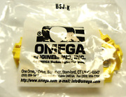 New Sealed Package Of 6 Omega Bsj-k Barrier Strip Jacket With Terminal Lugs