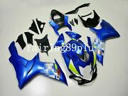Blue White Decals Abs Injection Fairing Kit Fit For 2011-2019 Gsxr600 Gsxr750