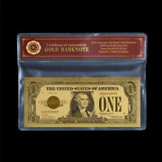 Wr 1928 1 Silver Certificate One Dollar Bill Notes 24k Gold Foil Banknote + Coa