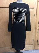 Boy By Band Of Outsiders Lucy Liu Striped Boatneck Dress Size 3 Lg/8 C645