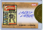 Iron Man Larry Lieber Autographed Card Rittenhouse Marvel Stan Lee's Brother B1