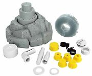 Above In Ground Swimming Pool 3-tier Floating Rock Water Fountain W/hose Kit