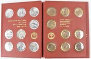 Israel Coin-medals Featuring Historical Cities Set Of 9-silver And 9-bronze Album