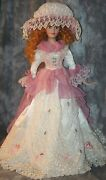 R- Collectible Doll Percelain Type 31 Tall Full Costume Numbered By Duck House