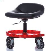 Roller Seat For Garage Mechanic Rolling Creeper Work Stool Shop Tractor Chair