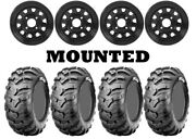 Kit 4 Cst Ancla Tires 27x9-12/27x11-12 On Itp Delta Steel Black Wheels Can