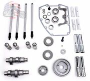 Andrews Sands Gear Drive Cams Set Pushrods Lifters Engine Kit Harley Twin Cam 64g