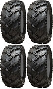 Four 4 Interco Reptile Atv Tires Set 2 Front 27x9-14 And 2 Rear 27x11-14