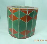 Vintage California Pottery Tile Pot Plant Cover Sleeve GMB Catalina D