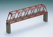 Tomix N Gauge Solid Wire Truss-type Bridge F Red Brick Piers With Two 3031 Japan