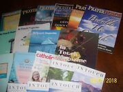Big Lot Of 18 Assorted Religious / Christian Readings Books Bibles Magazines