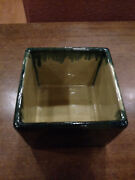 Beautiful Studio Pottery Square Bowl by Mid Century Potter Eugene Deutch