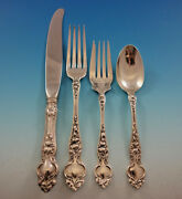 Violet By Wallace Sterling Silver Flatware Service For 8 Set 34 Pcs No Monograms