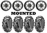 Kit 4 Cst Wild Thang Cu05 Tires 25x8-12/25x10-12 On Frontline 556 Machined Sra