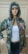 Womenand039s Mossy Oak Mountain Country Camo Hooded Jacket S M L Xl 2xl