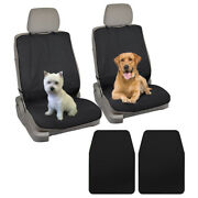 Pet Front Car Seat Cover For Dogs And Cats - Bonus Floor Mat Liner 4pc
