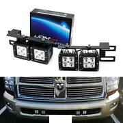 40w Cree Led Pods W/ Lower Bumper Mounting Bracket For 09-18 Dodge Ram 2500 3500