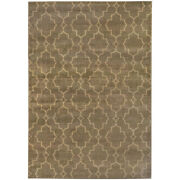 Brown Damask Crosshatch Lines Diamonds Contemporary Area Rug All-over 5329b