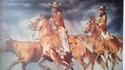 William Verdult The Roundup Limited Edition Lithograph Hand Signed W/coa