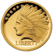 2017 Gaudens 20 Double Eagle 1/2 Oz Gold Indian Head Pattern Hr Proof