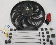 14 Heavy Duty S-blade Electric Radiator Cooling Fan + 210 Thermostat Relay Kit