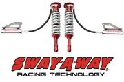 Sway-a-way 2.5 Front Remote Reservoir Coilover Kit Pair Fits 15-17 Ford F150 4wd